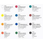 Acrylic Colour Set - 12 x 12ml Tubes - Colours