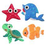 Foam Clay Magnet Kit - Starfish, Dolphin, Turtle, Clownfish