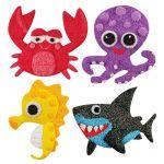 Foam Clay Magnet Kit - Crab, Octopus, Seahorse, Shark