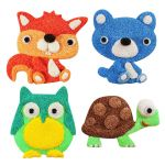Foam Clay Magnet Kit - Squirrel, Bear, Owl and Tortoise