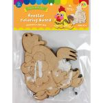 Rooster Colouring Board Pack of 5 - Packaging Front