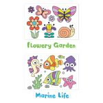 Have Fun Tracing! Flowery Garden and Marine Life