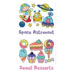 Have Fun Tracing! Space Astronaut and Sweet Desserts
