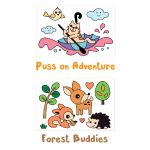 Have Fun Tracing! Puss on Adventure and Forest Buddies