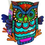 Animal Lantern With LED Light Kit - Owl