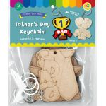 Father's Day Keychain Pack of 5 - Packaging Front