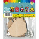 Father's Day Keychain Pack of 5 - Packaging Back