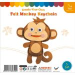Felt Monkey Keychain Pack of 5