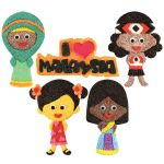 Merdeka Girl Magnet Pack of 5