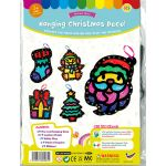 Stained Glass Christmas Hanging Deco Pack of 5 - Packaging Front