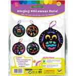 Stained Glass Halloween Hanging Deco Pack of 5 - Packaging Front