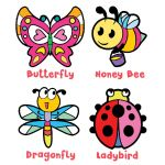 Suncatcher 4-in-1 Keychain Box Kit - Butterfly, Honey Bee, Dragonfly, Ladybird