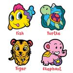 Suncatcher 4-in-1 Keychain Box Kit - Fish, Turtle, Tiger, Elephant