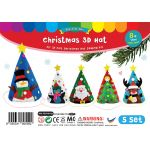 Felt Christmas 3D Hat Kit Pack of 5