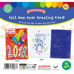 Felt New Year 2018 Greeting Card - Pack of 10