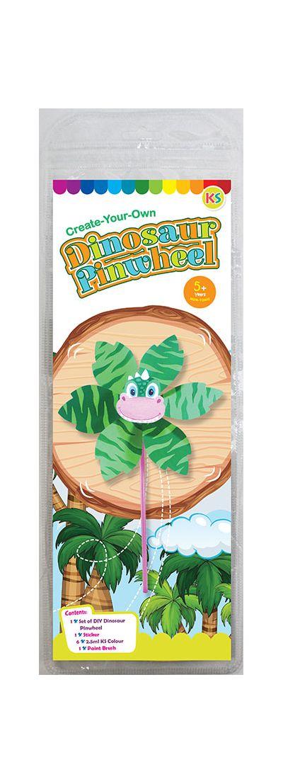 DIY Pinwheel Kit - Dinosaur - Packaging Front