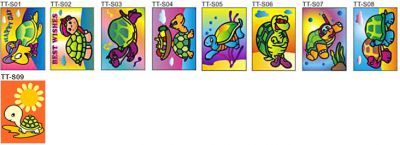 Sand Art Turtle and Tortoise - Small