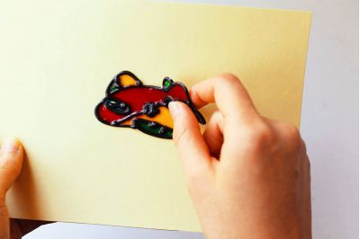 Glass Deco Yellow Release Card - Medium