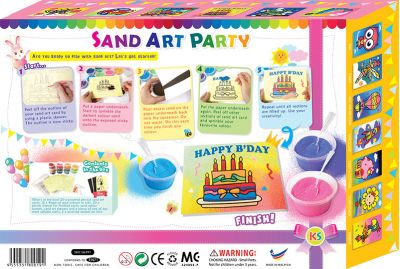 Sand Art Party Pack - Packaging Back