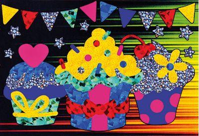 Foil Art - Cupcakes