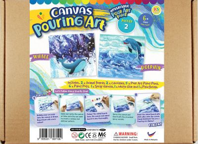 Canvas Pouring Art Box Set - Dolphin And Whale