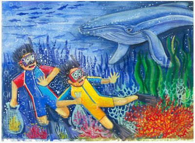 KS Poster Colour Sample - Undersea Whale Encounter