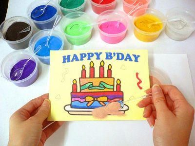 Sand Art For Kids - Happy Birthday Card
