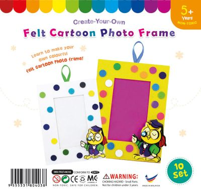 Felt Cartoon Photo Frame - Pack of 10 - Owl