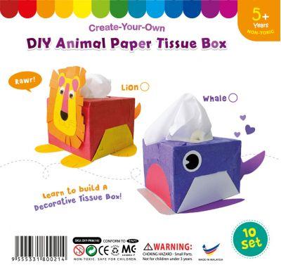 Animal Paper Tissue Box - Pack of 10