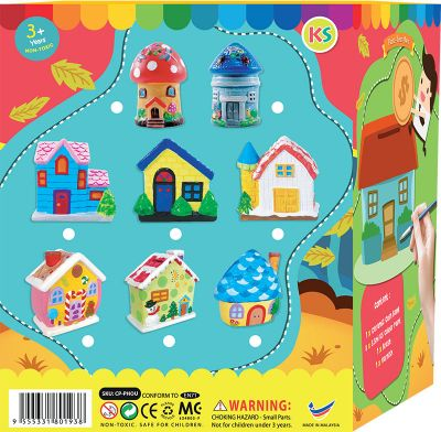 House Coin Bank Painting - Packaging Back