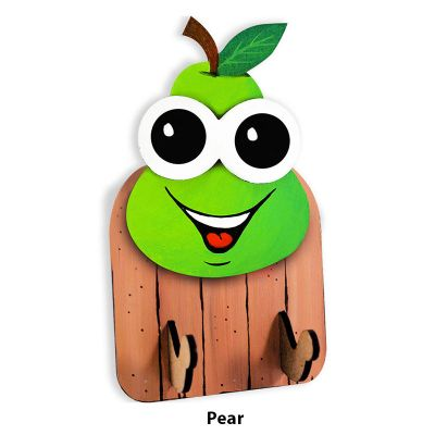 3D Fruit Key Hanger - Pear