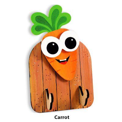 3D Vegetable Key Hanger - Carrot