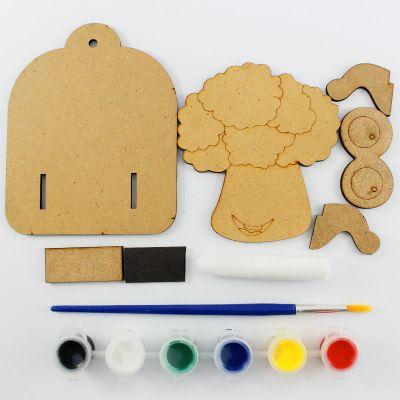 3D Vegetable Key Hanger Kit - Content
