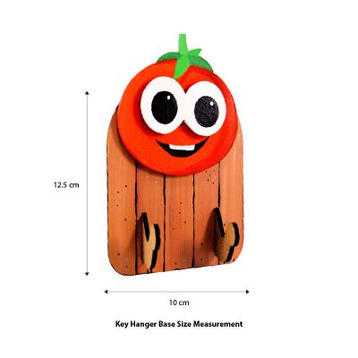 3D Vegetable Key Hanger - Size