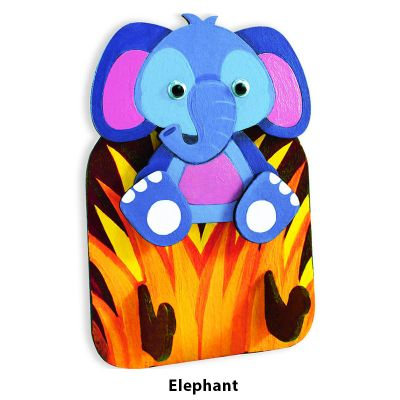 3D Zoo Animal Key Hanger - Elephant