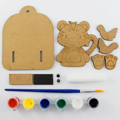 3D Zoo Animal Key Hanger Kit - Content