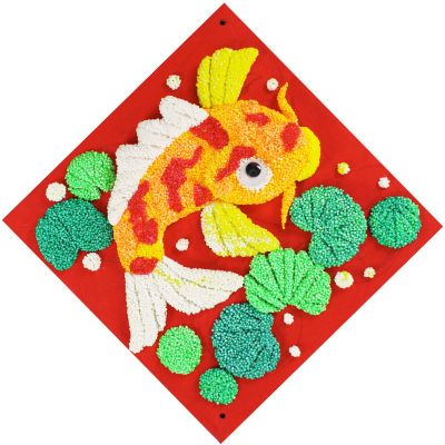 Chinese New Year Foam Clay Canvas Kit - Koi Fish