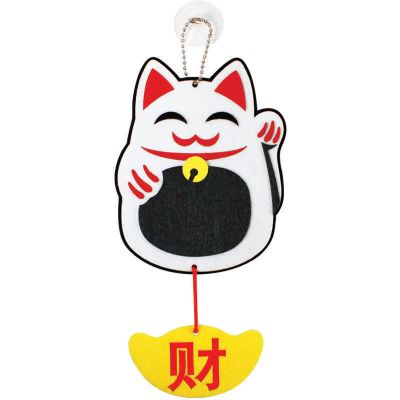 Felt Chinese New Year Fortune Cat Hanger Pack of 5