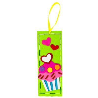 Felt Cutie Bookmark - Cupcake