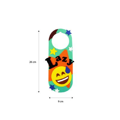 Felt Emoji Door Hanger Size