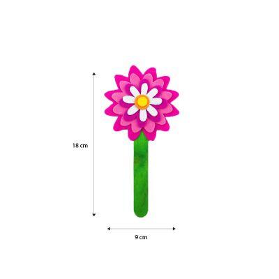 Felt Flower Bookmark - Size