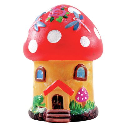 House Ceramic Coin Bank Painting - Mushroom Cottage