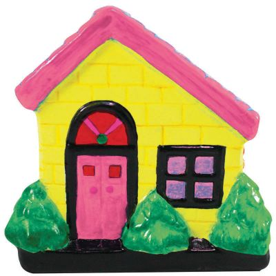 House Ceramic Coin Bank Painting - Cute House