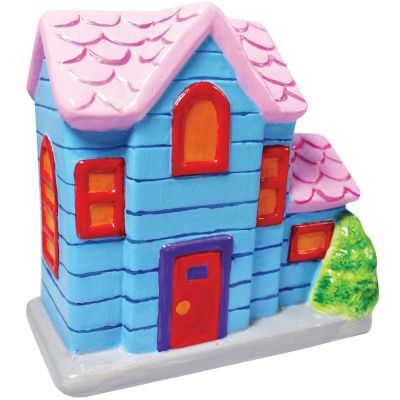 House Ceramic Coin Bank Painting - Mansion House