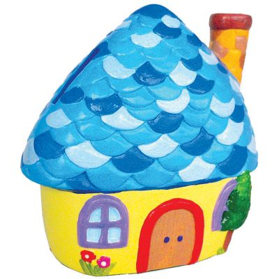 House Ceramic Coin Bank Painting - Pixie's Cottage