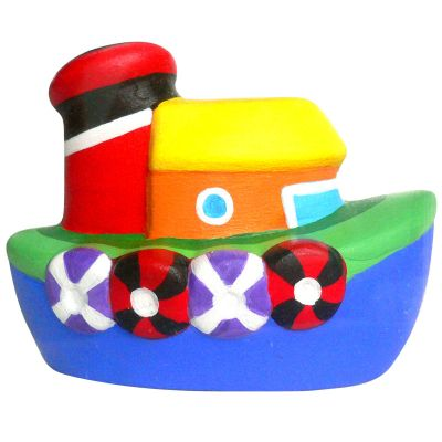 Small Ceramic Coin Bank - Boat