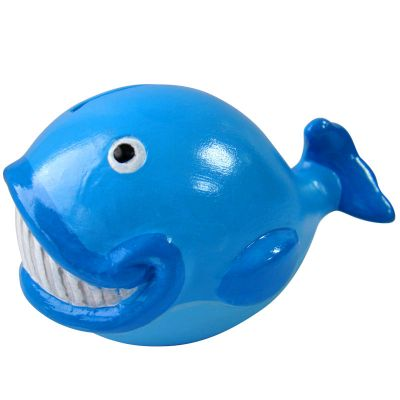 Small Ceramic Coin Bank - Whale