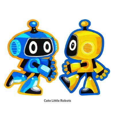Cool Kids' Wonderland Magnet Fun - Cute Little Robots