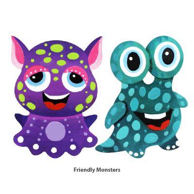 Cool Kids' Wonderland Magnet Fun - Friendly Monsters