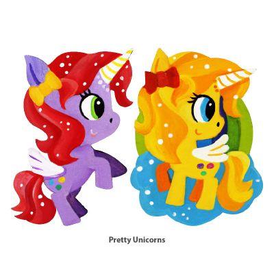 Sweet Girls' Wonderland Magnet Fun - Pretty Unicorns